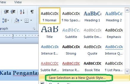 membuat daftar isi word 2010 cara membuat daftar isi otomatis pada microsoft word 2010