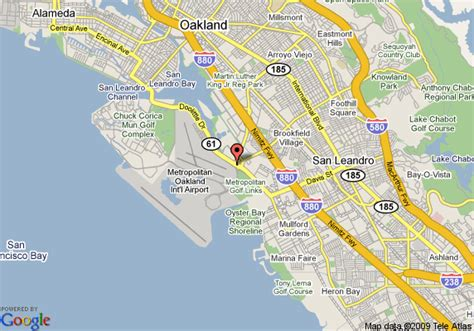 oakland california map map of oakland airport oakland