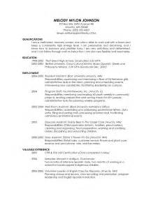 Sle Resume With Masters Degree by Cv Template Graduate School Application Http