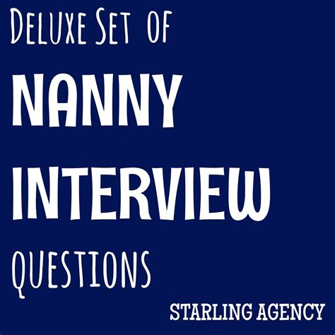 Nanny Background Check Services Deluxe Set Of Nanny Questions Starling Nanny Placement Agency