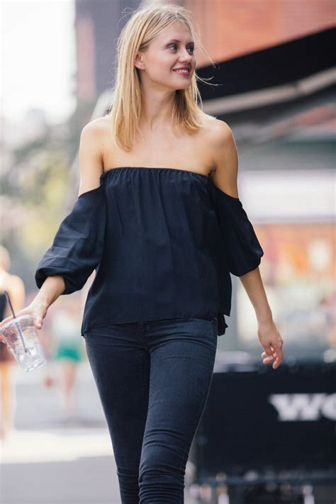 Shoo And Shoulders boulee bare shoulder top from pennsylvania by