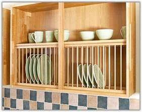Wooden Kitchen Cabinet kitchen cabinet plate rack insert home design ideas