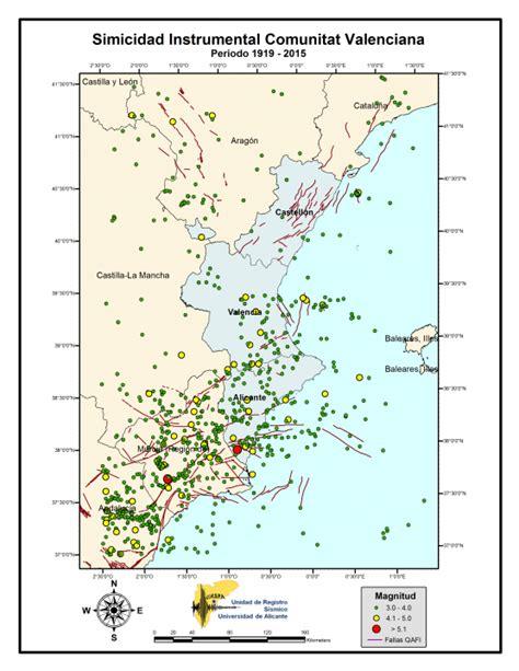 web imágenes vídeos maps más sismicitat instrumental comunitat valenciana unitat de