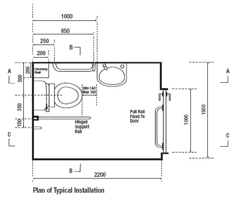 Disabled Toilet Layout Victoria | dda bathroom dimension precisely pinterest toilet