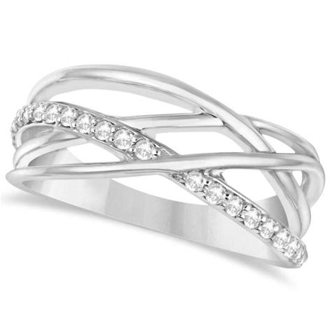Intertwined Rings intertwined ring abstract design 14k w gold 0