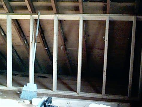 attic knee wall framing rehab project 2 attic rennovation antler properties