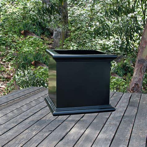 sienna square planter box large fiberglass planter