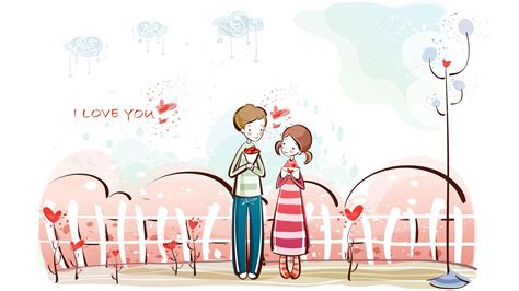cartoon wallpaper about love sweet couple wallpaper 1167916
