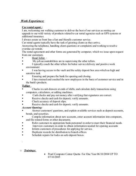 Car Rental Sle Resume by 329588364 Sayifullah Cv