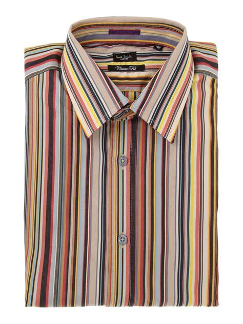 lyst paul smith formal cotton longsleeved stripe shirt