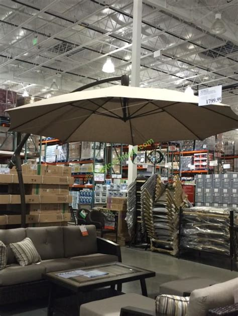 Costco Patio Umbrella Proshade 11 Parasol Cantilever Umbrella Costcochaser
