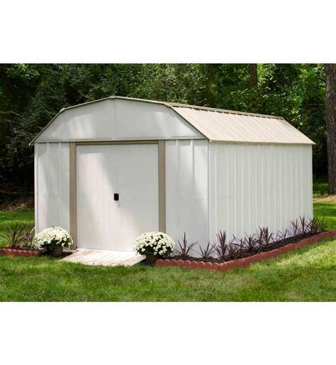 Metal Tool Sheds by 10x12 Metal Storage Shed Kit Backyard Outdoor Building