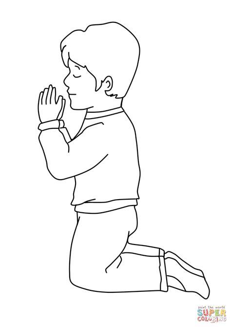 coloring page boy praying little boy praying coloring page coloring page boy praying