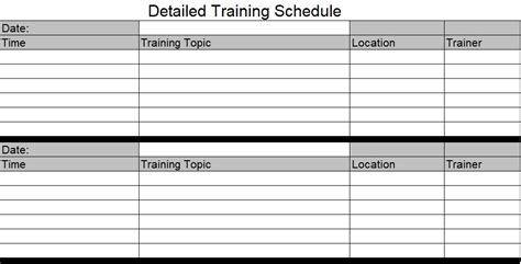 Employee Training Schedule Template For New Employees Excel Tmp Employee Plan Template Excel