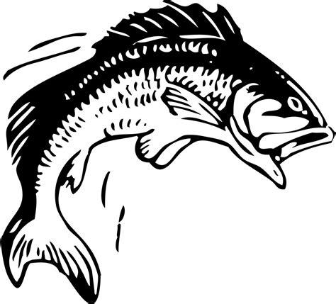 printable black art clip art fish bass fishing clip art free printable fish