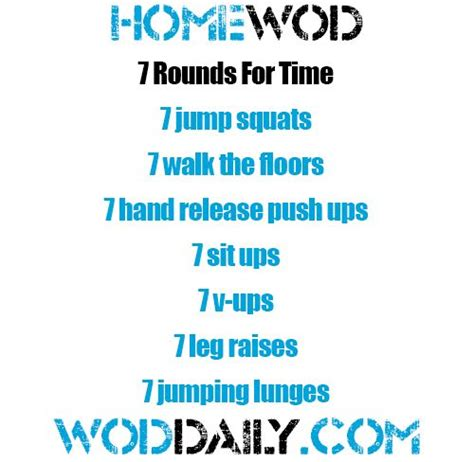 friday 131220 home wod by woddaily fitness