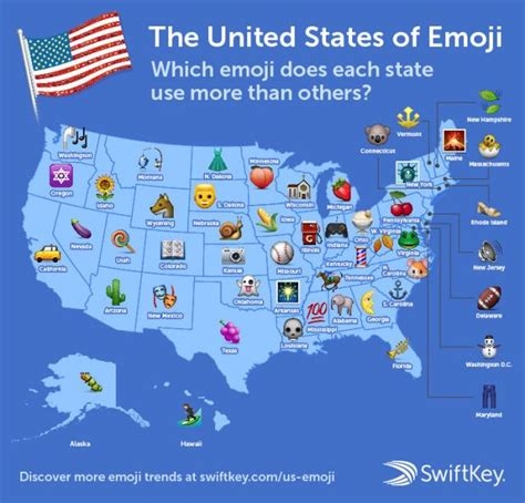 map of the united states song the most popular emoji in each state mental floss