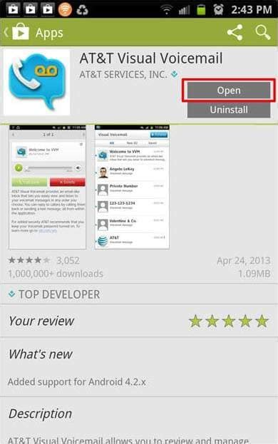 how to save voicemails on android at t visual voicemail app for android at t wireless support