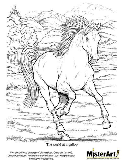 coloring page galloping horse free coloring page wonderful world of horses coloring