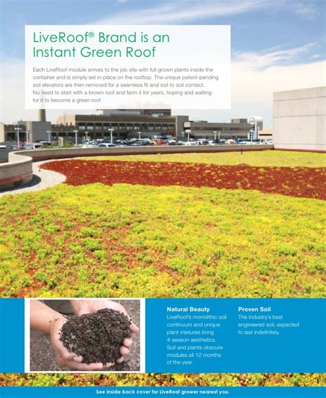 liveroof green roof systems liveroof 174 hybrid green roofs