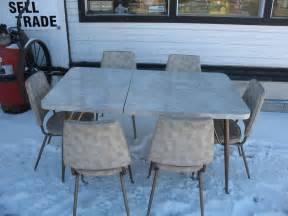 1950 s queen city art deco retro vintage dinette kitchen table with 6 chairs ebay