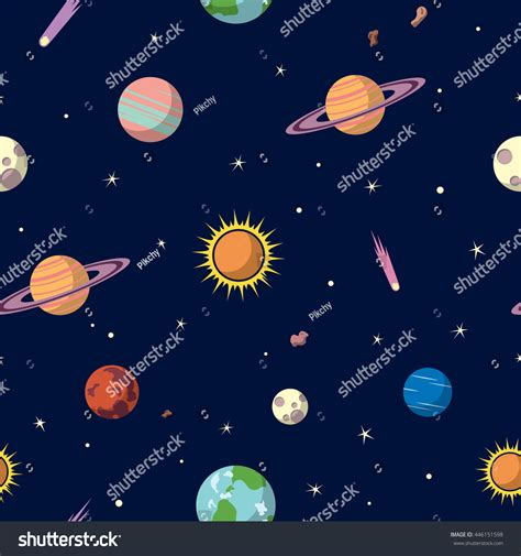 pattern in cosmic background radiation planets seamless pattern space background space stock
