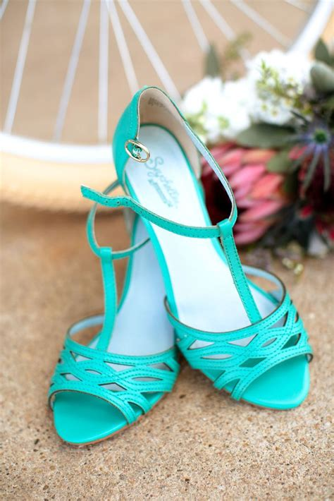 Turquoise Wedding Shoes by Seychelles Turquoise Vintage Inspired Wedding Shoes