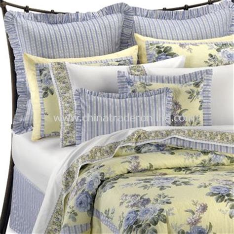 french blue and yellow comforter sets by laura ashley