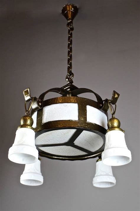 arts and crafts lighting fixtures arts and crafts hammered fixture 4 light for sale