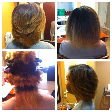 hairstyles for short straight natural hair straightened natural hair hair did nails did