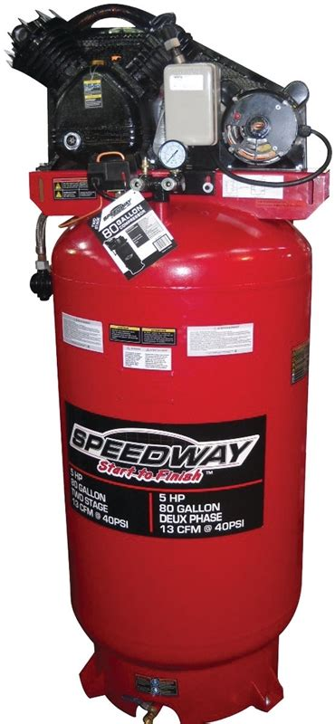 speedway 51866 commercial grade air compressor 5 hp 80 gal 150 psi