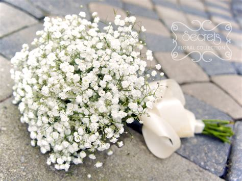 babys breath bouquet how to wrap your own bouquet fresh baby s breath bridesmaid bouquet with ivory satin