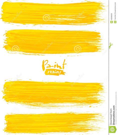 acrylic painting no brush strokes bright yellow acrylic brush strokes stock vector image