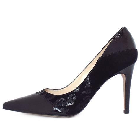 kaiser deliane high heel court shoes in black