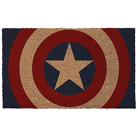 buy captain america rug buy captain america shield 17 inch x 29 inch door mat from bed bath beyond