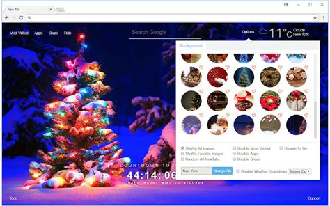 themes google chrome happy new year christmas countdown wallpaper hd new tab chrome web store