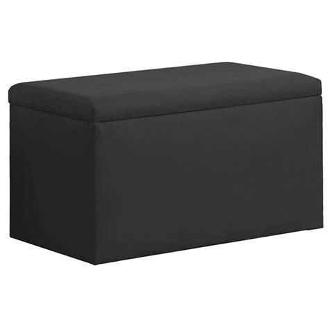 Black Storage Bench Dreamfurniture Upholstered Storage Bench In Micro Suede Black