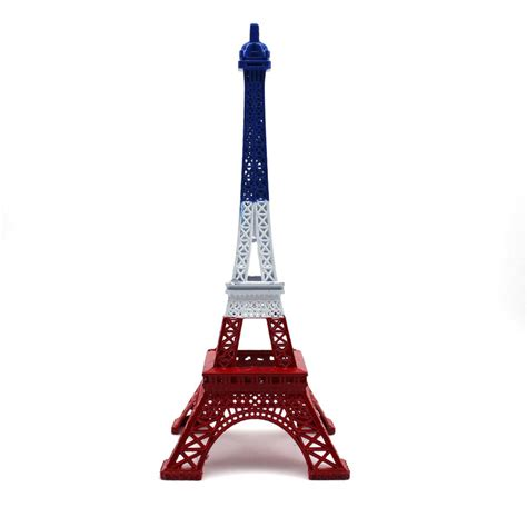 christmas crafts for kids from paris 25cm vintage model decoration craft blue white eiffel tower figurine statue home decor