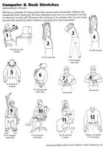 Desk Stretches At The Office Office Stretches