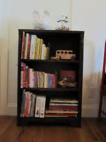 how to refinish a bookshelf our humble abode