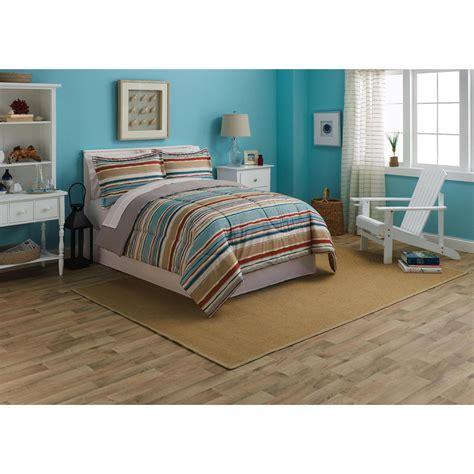 essential home microfiber comforter set brushed stripe