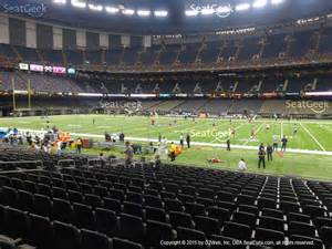 Mercedes Superdome Seat View Mercedes Superdome Section 112 Seat Views Seatgeek