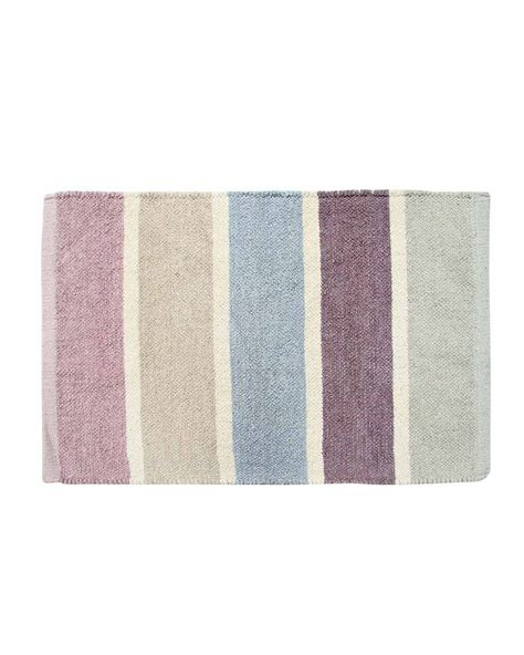 Purple Gray Rug by Cotton Chenille Striped Rug Blue Beige Purple Grey Homescapes