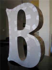 Make Paper Mache Letters - diy paper mache letter better than any you could buy at