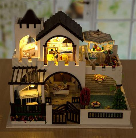 dolls house lighting kits diy wooden doll house love castle 3d puzzle house model