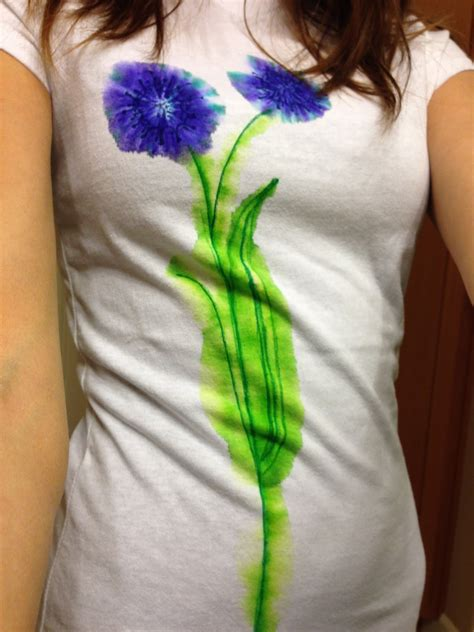 Painting T Shirts With Sharpies by The Laurel Crowned Diy Watercolor T Shirt Using Sharpies