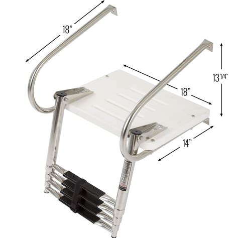 boat ladder portable harbor mate telescoping boat ladder discount rs