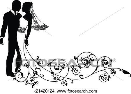 Clipart Sposi Clipart Sposa Sposo Disegno Floreale K21420124 Cerca