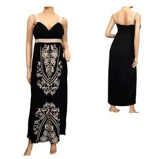 Black Ethnic Dress Size M L 8336 ethnic print empire cruise maxi dress s m l