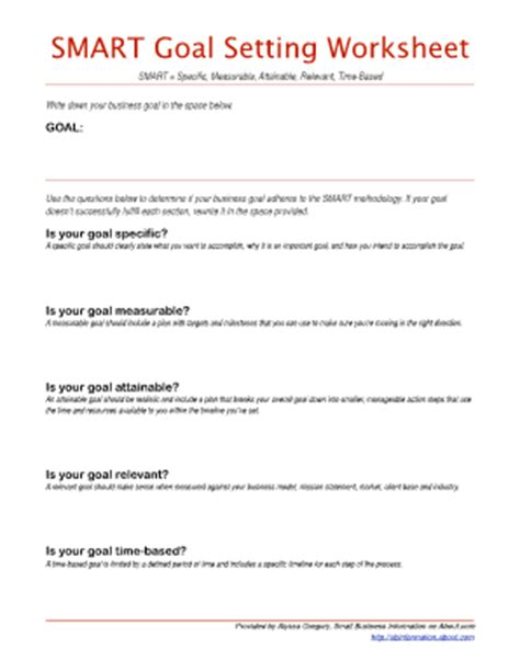 Smart Goal Setting Worksheet by Smart Goal Setting Worksheets Worksheets Releaseboard